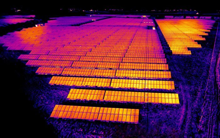 Thermal Imaging Drone at Solar Park