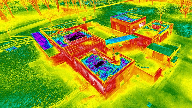 Thermal Imaging Drone Roof Survey 4