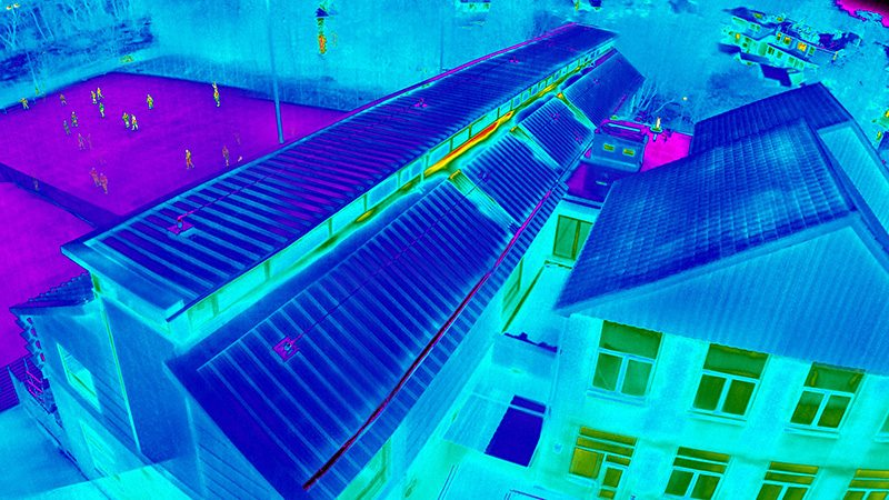 Thermal Imaging Drone Roof Survey 5