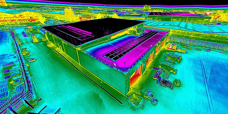 Thermal survey of a rooftop