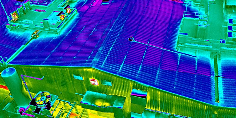 Drone thermal imaging survey